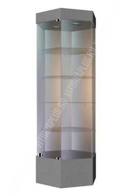 Выставочная стеклянная витрина  ШВСП-80
