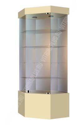 Островная стеклянная витрина с подиумом УВСК-80