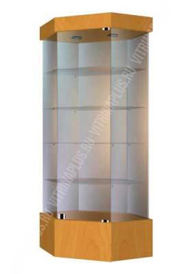 Оcтровная стеклянная витрина УВСП-80