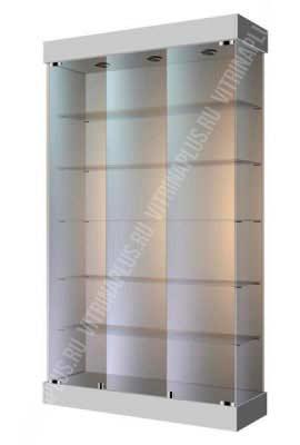 Широкая стеклянная витрина ВС-120 1 Размер: 2000x1200x400 мм. Цвет: серый