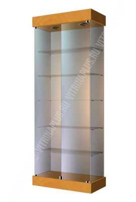 Витрина из стекла на подставке ВС-80 Размер: 2000x800x400 мм. Цвет: бук