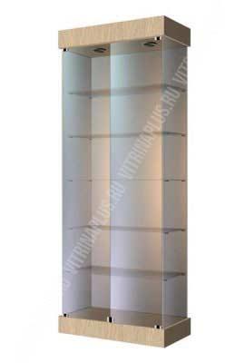 Стеклянная  витрина на подиуме ВС-80 Размер: 2000x800x400 мм. Цвет: дуб