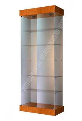 Шкаф-витрина стеклянная с подиумом ВС-80 Размер: 2000x800x400 мм. Цвет: орех