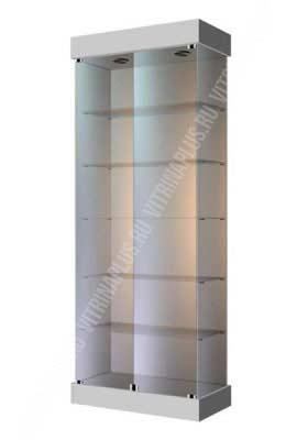 Торговая витрина  для магазина ВС-80 Размер: 2000x800x400 мм. Цвет: серый