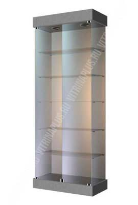 Торговая витрина на подставке ВС-80 Размер: 2000x800x400 мм. Цвет: титан