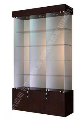 Витрина для телефонов с накопителем  ВСН-120 Размер:2000x1200x400 мм. Цвет: венге