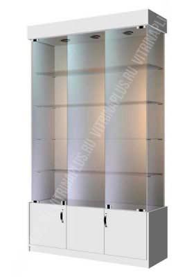 Аптечная витрина с замком  ВСН-120 Размер:2000x1200x400 мм Цвет: титан