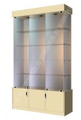 Витрина для электроники стеклянная  ВСН-120 Размер:2000x1200x400 мм Цвет: бежевый