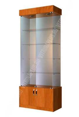 Шкафя витрина стеклянный ВСН-80 Размер: 2000x800x400 мм. Цвет: орех