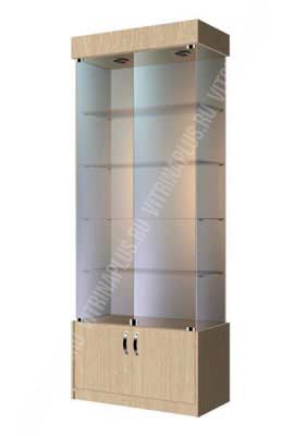Стеклянная торговая витрина с накопителем ВСН-80