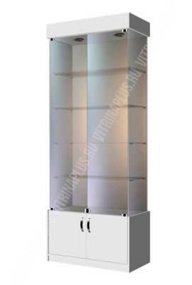 Торговая витрина для техники стеклянная ВСН-80 Размер: 2000x800x400 мм. Цвет: титан