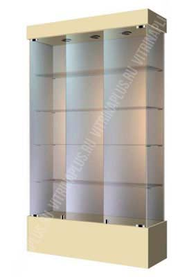 Широкая стеклянная витрина на подиуме ВСП-120 Размер: 1200 мм х 2000 мм х 400 мм Цвет: бежевый