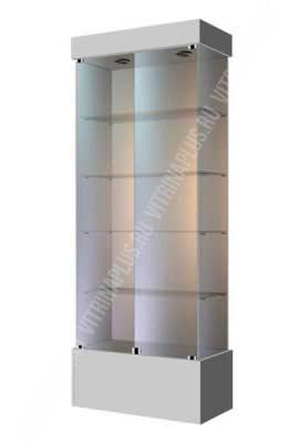 Витрина торговая с высоким подиумом ВСП-80 Размер: 2000x800x400 мм. Цвет: серая
