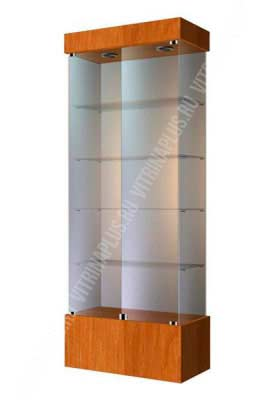 Стеклянная витрина для магазина ВСП-80 Размер: 2000x800x400 мм. Цвет: орех