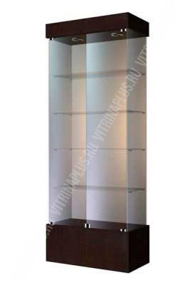 Стеклянная витрина для техники ВСП-80 Размер: 2000x800x400 мм. Цвет: венге