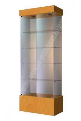 Стеклянная витринадля украшений ВСП-80 Размер: 2000x800x400 мм. Цвет: бук