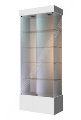 Стеклянная витрина для аптеки ВСП-80 Размер: 2000x800x400 мм. Цвет: титан