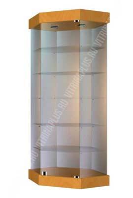 Островная стеклянная витрина с низким подиумом УВС-80
