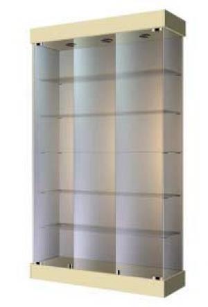 Широкая стеклянная витрина для островка ВС-120 8 Размер: 2000x1200x400 мм. Цвет: бежевый