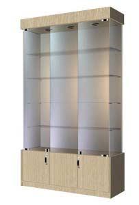 Торговая витрина с накопителем  ВСН-120 Размер:2000x1200x400 мм. Цвет: дуб