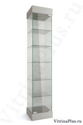 Узкая стеклянная торговая витрина ВС-40
