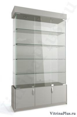 Широкая стеклянная витрина с накопителем  ВСН-120