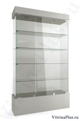 Широкая стеклянная витрина на подиуме ВСП-120